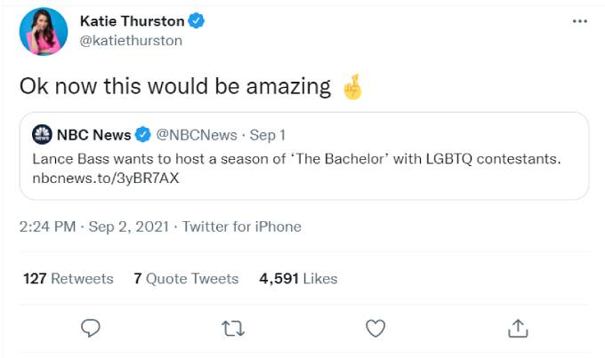 Katie Thurston's tweet
