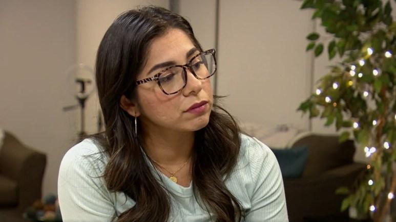 MAFS Rachel looks tense