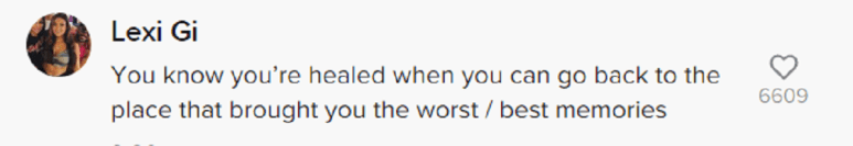 A TikTok comment left for Sammi Sweetheart