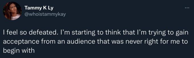 Tammy Ly's tweet