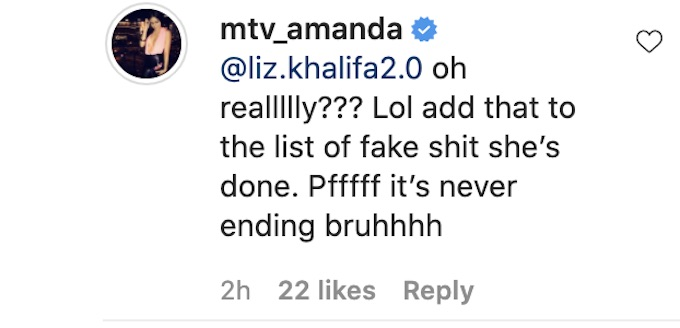 the challenge star amanda garcia reacts to fan comment about castmate tweet