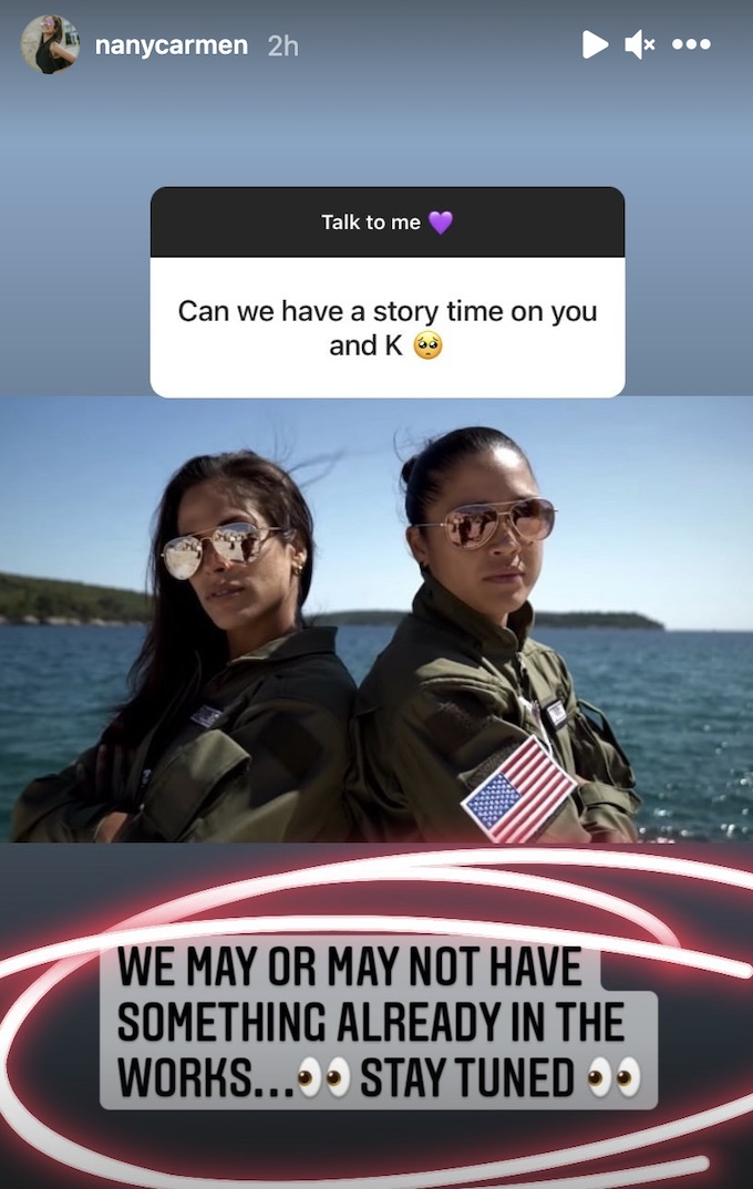 nany gonzalez comments about story of her and kaycee clark