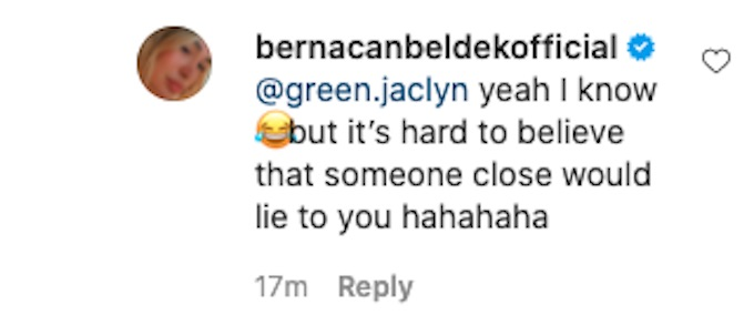 berna canbeldek comments about spies lies and allies footage