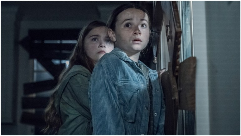Annabelle Holloway as Gracie and Cailey Fleming as Judith, as seen in Episode 8 of AMC's The Walking Dead Season 11