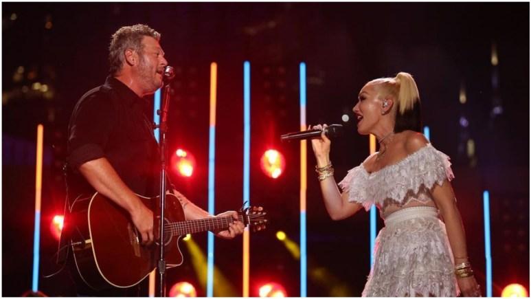 Blake Shelton and Gwen Stefani at CMA Awards