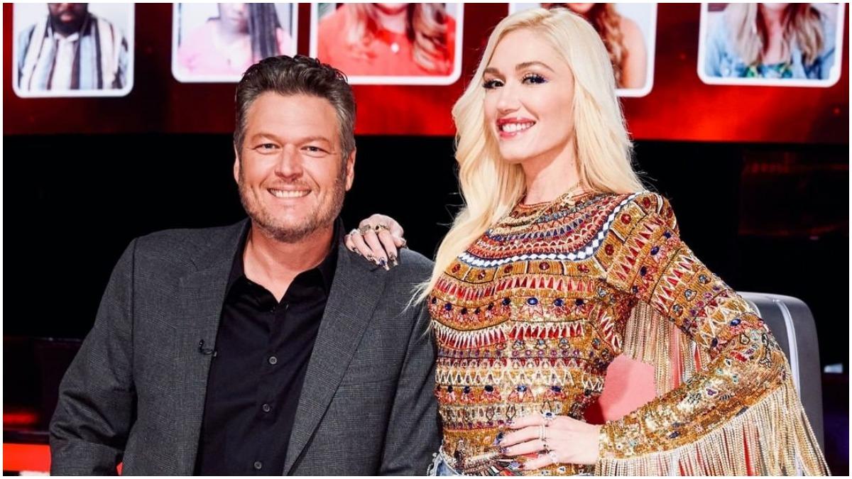 Blake Shelton and Gwen Stefani on The Voice
