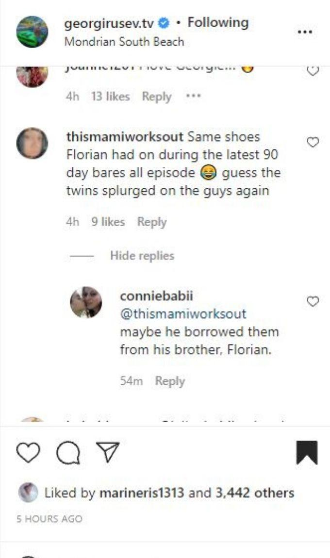 IG comments on Georgi Rusev's post