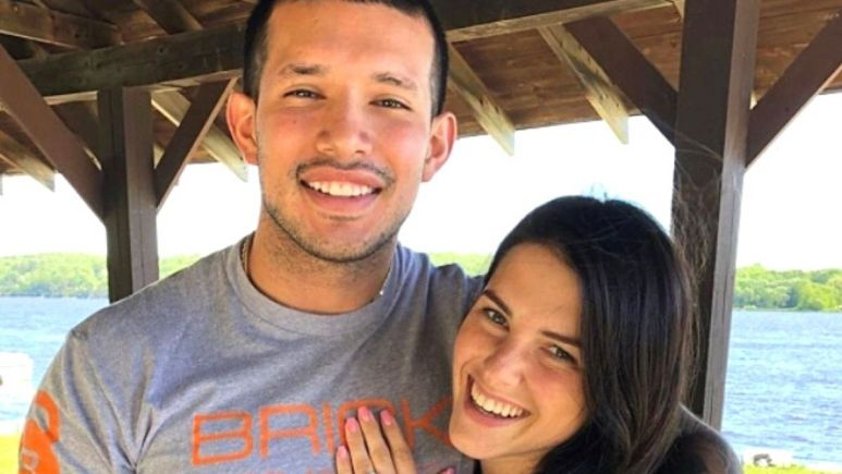 javi marroquin and lauren comeau during happier times while they were still engaged