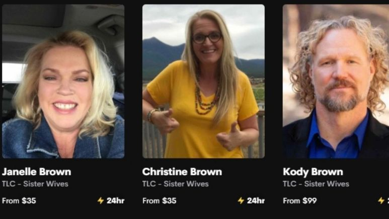 janelle, christine and kody brown's prices on cameo