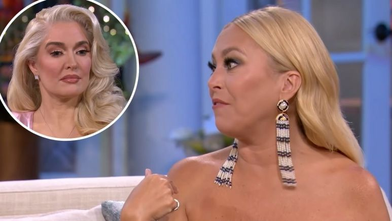 Sutton Stracke and Erika Jayne at the Real Housewives of Beverly Hills reunion