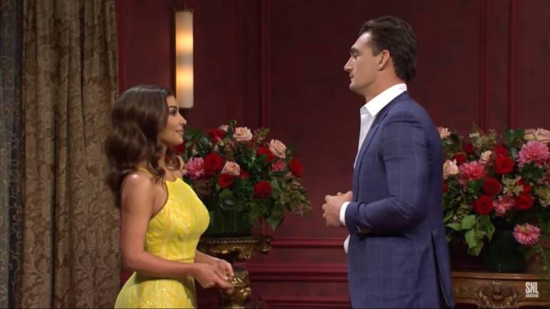 Kim Kardashian and Tyler Cameron on SNL