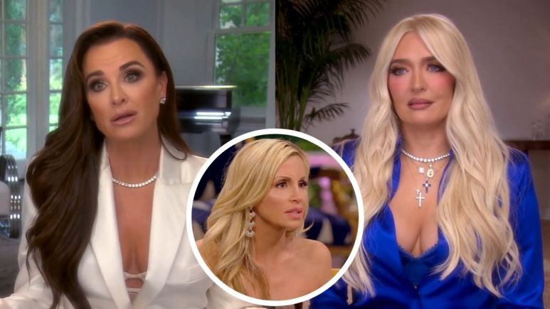 RHOBH alum Camille Grammer outs Kyle Richards as the person who gossiped about Erika Jayne and Tom Girardi's money issues