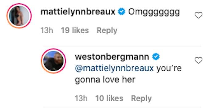 the challenge mattie lynn breaux comments wes ig post