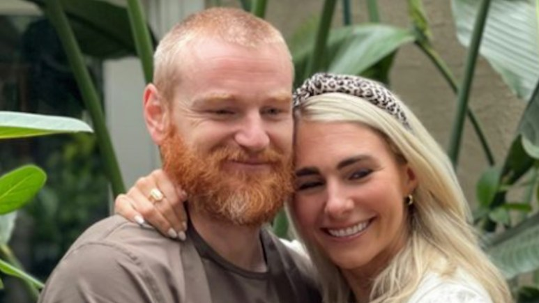 the challenge star wes bergmann with wife amanda