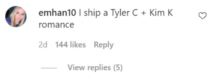 Comments on Tyler Cameron's Instagram post