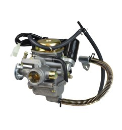 24mm pd24j carburetor for 125cc 150cc gy6 scooters [ 1000 x 1000 Pixel ]