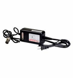 24 volt 2 0 amp xlr lithium ion battery charger for the ev rider transport transport af folding scooter [ 1000 x 1000 Pixel ]
