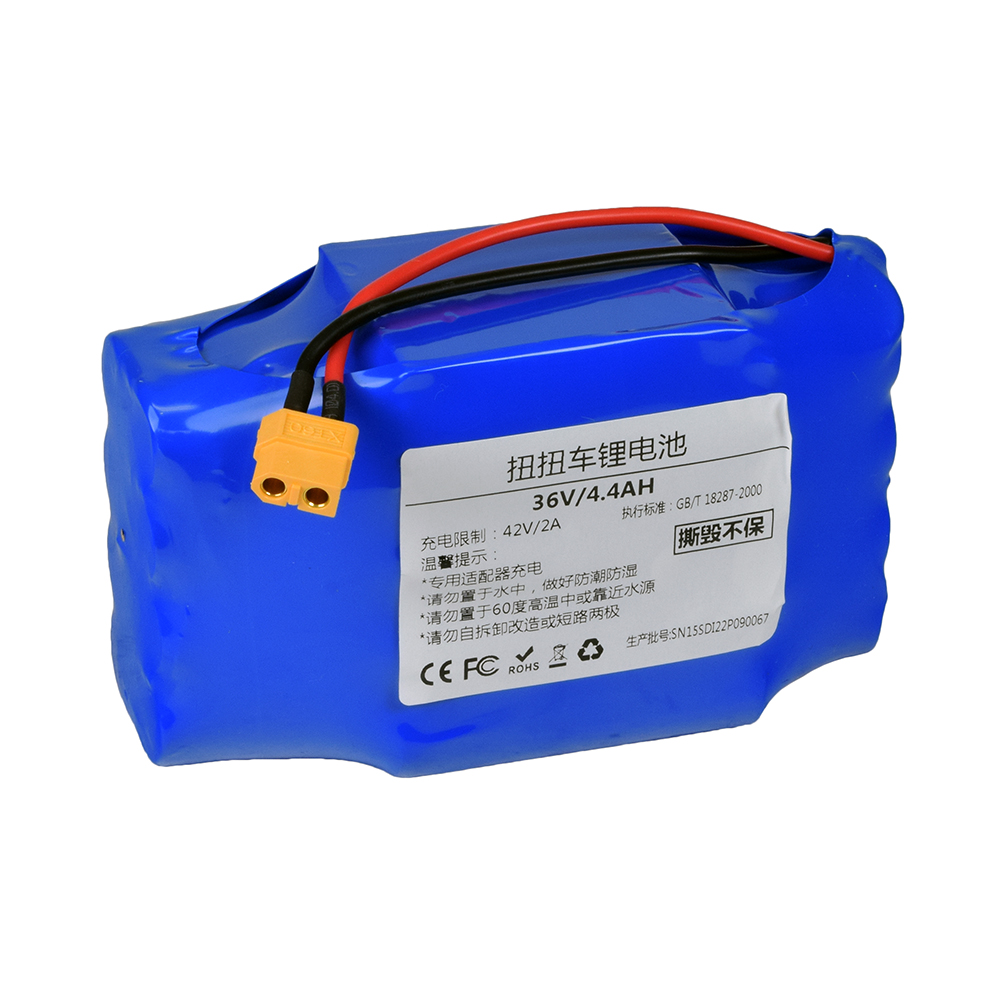 medium resolution of 36 volt 4 4 ah samsung lithium battery for the original swagway hoverboard ul 2272 certified