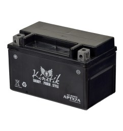 12 volt ytx7a replacement sealed agm battery for roketa scooters premium  [ 1000 x 1000 Pixel ]