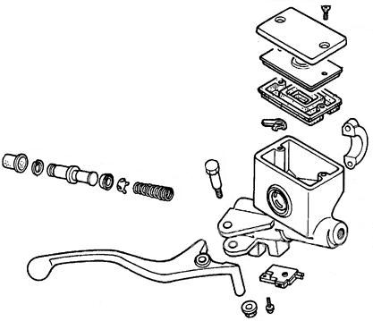 Front Brake Master Cylinder Assembly for Honda Helix CN250