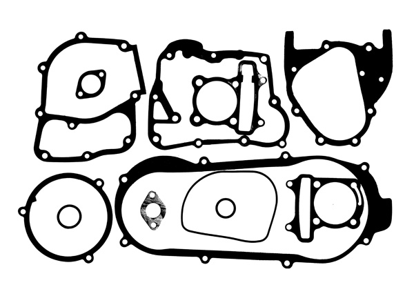 Gasket Set for GY6B Short Case Engines with 170cc and