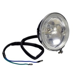 headlight assembly with 2 wires for the baja wd90u 90cc atv [ 1000 x 1000 Pixel ]