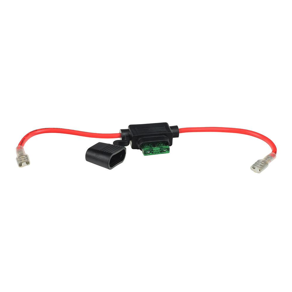 medium resolution of in line 30 amp ato blade fuse holder with wire 1 4 battery terminal connectors