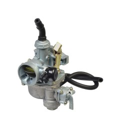 pz19 carburetor with 19 mm intake right side cable choke fuel shut off valve for 50cc 70cc 90cc atvs dirt bikes [ 1000 x 1000 Pixel ]