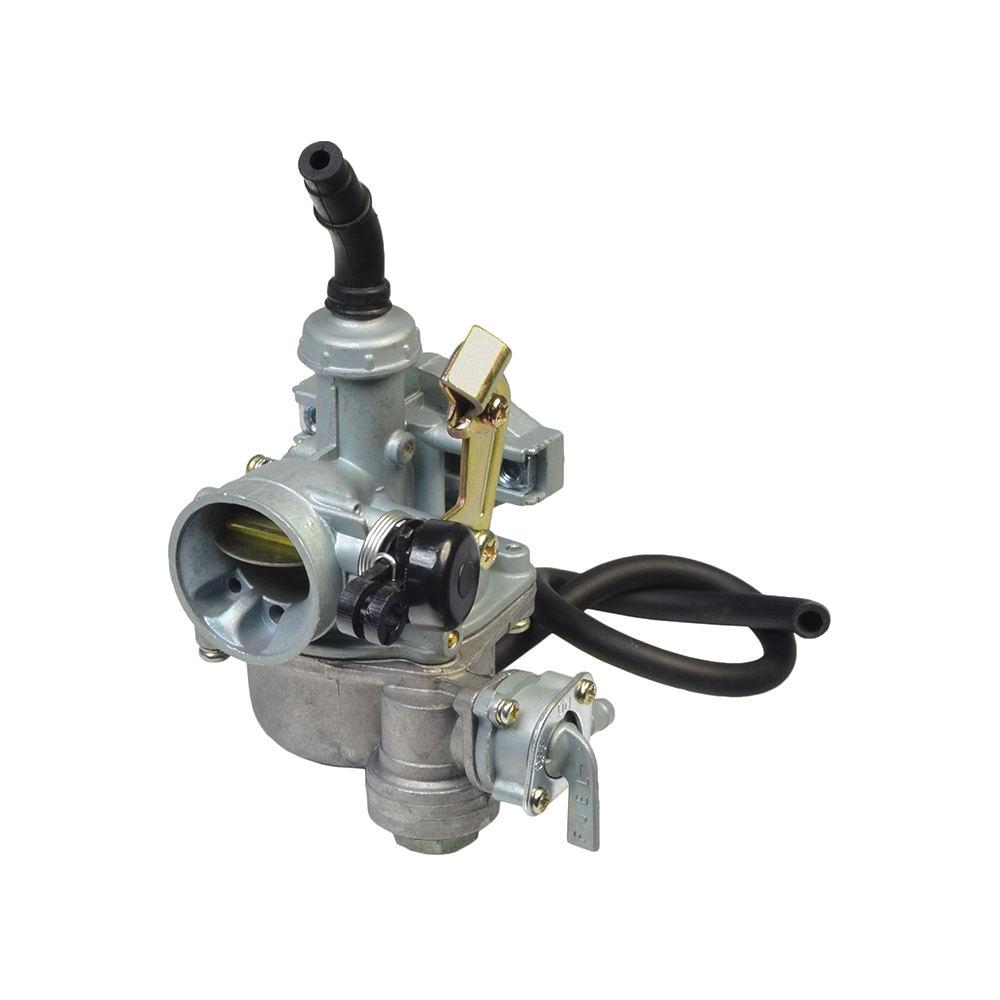 hight resolution of pz19 carburetor with 19 mm intake right side cable choke fuel shut off valve for 50cc 70cc 90cc atvs dirt bikes