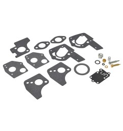 carburetor repair kit 494624 495606 for briggs stratton 3 hp to 5 5 hp horizontal shaft engines [ 1000 x 1000 Pixel ]