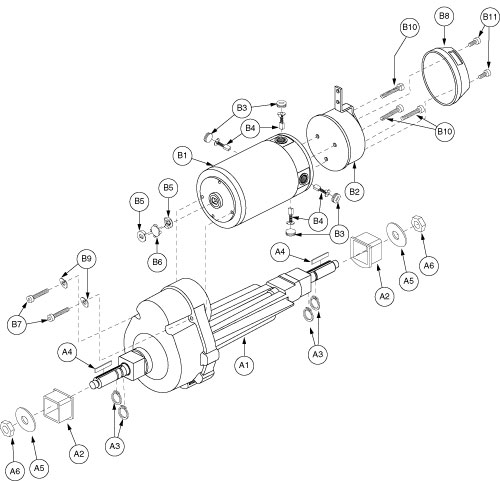 Motor Assembly (Motor, Transaxle, and Brake) for 2nd