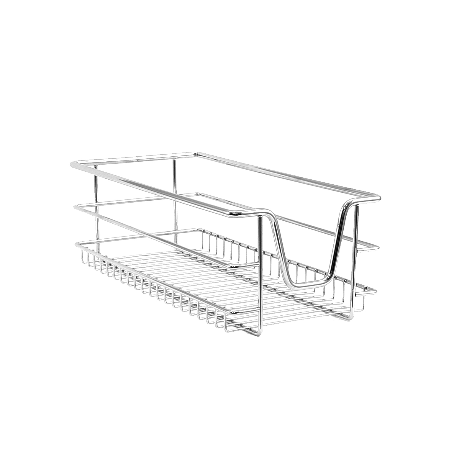 2 Kitchen Wire Baskets Pull Out Storage Drawer Slide Out