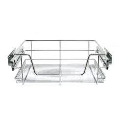 Kitchen Sliding Baskets Who Makes The Best Cabinets 3 Pull Out Storage Wire Drawer Slide