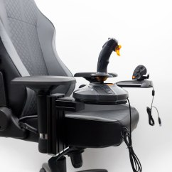 Office Chair Joystick Mount Modern Side Chairs Blog Monstertech As With Our Other Products We Have Specialized Mounting Plates For Almost All Joysticks And Throttles On The Market