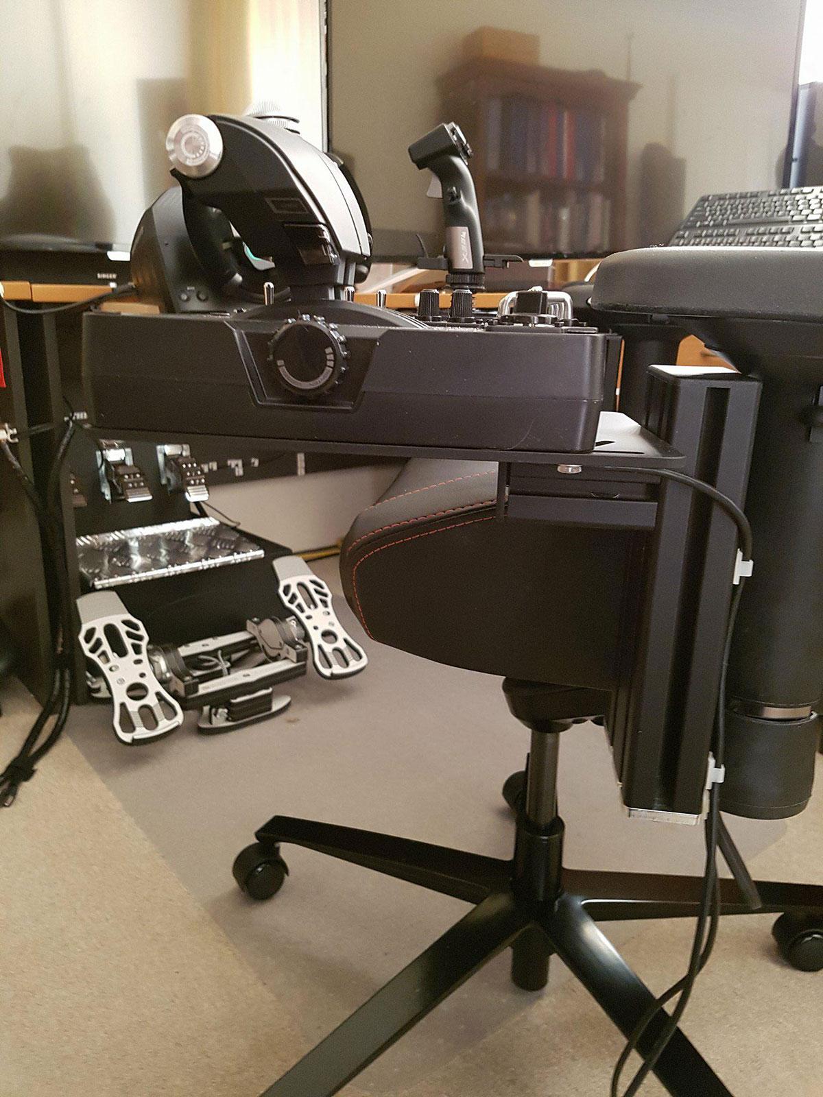 office chair joystick mount pontoon boat captain hotas monstertech customer images
