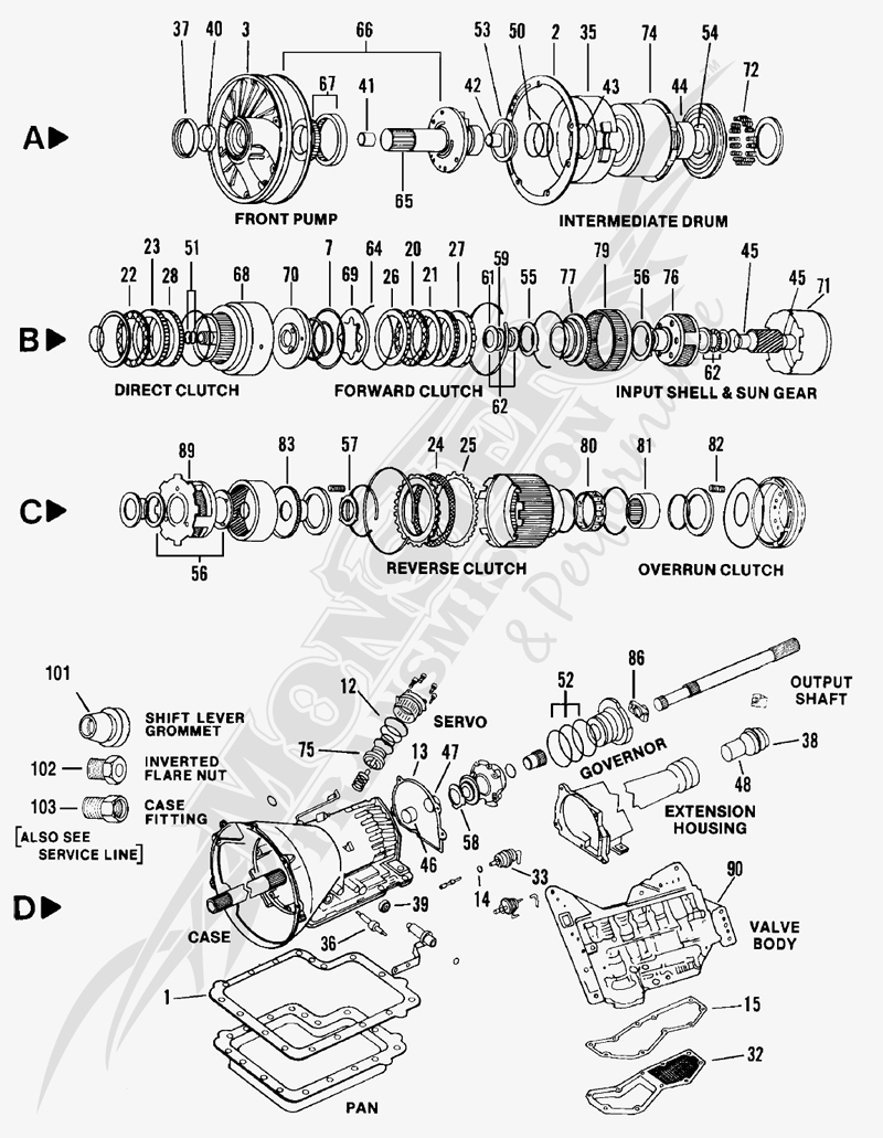 Ford C6 Transmission Valve Body Diagram Pictures to Pin on
