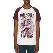 Molecule Division Raglan T-Shirt - Red/White