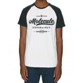 Molecule Vintage Raglan T-Shirt - Black/White