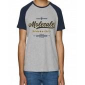 Molecule Vintage Raglan T-Shirt - Blue/Grey