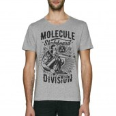 Molecule Division Grey Scoop Neck T-Shirt