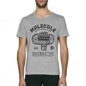 Molecule Play Or Die Grey Scoop Neck T-Shirt