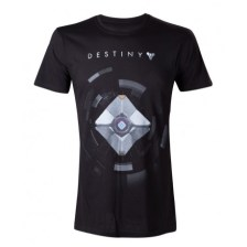 Destiny: Black T-Shirt With Ghost