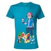 Pokémon - Ask Ketchum Men T-shirt - Blue