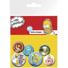 The SIMPSONS Family Faces Button Badges