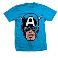 Marvel Comics - Captain America Big Head Men's T-Shirt