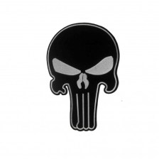 Punisher Large Woven Iron On Embroidered Patch