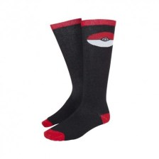 Pokemon - Pokeball Kneehigh Socks Black