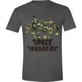 Space Invaders - Camo Grey T-shirt