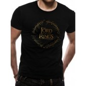 Lord Of The Rings - Gold Foil Logo T-Shirt
