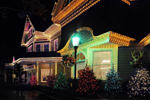 Holiday Lighting Installed in Queens, NY by Monster Wash